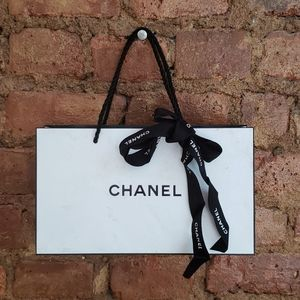 CHANEL empty gift bag with ribbon